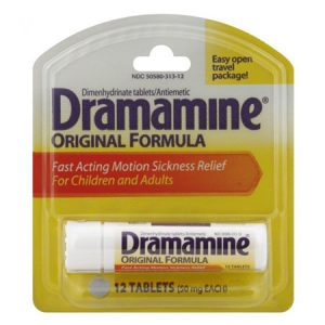 Dramamine (Dimenhydrinate 50 mg), 12 tablets - Discount