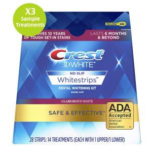 Crest Whitestrips 3D Glamorous White X3 Strips Sample Treatment