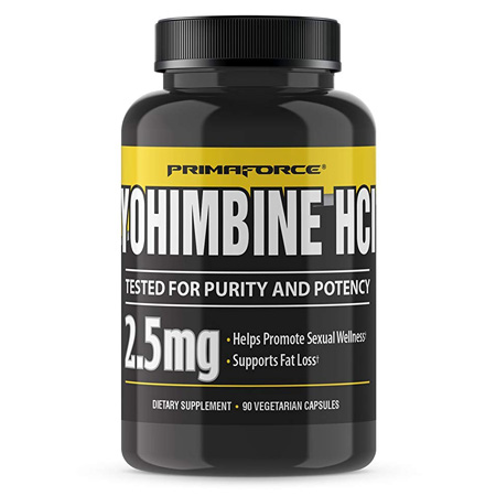 PrimaForce Yohimbine HCl, Weight Loss Supplement (90 Capsules)